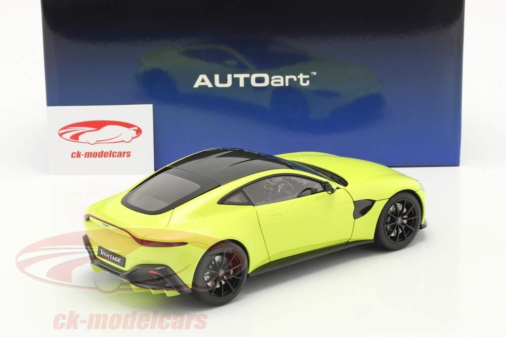 Aston Martin Vantage Baujahr 2019 limettengrün 1:18 AUTOart
