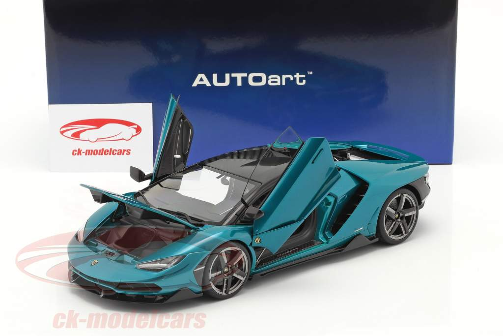 Lamborghini Centenario Byggeår 2016 artemis grøn 1:18 AUTOart