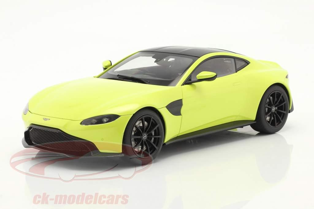Aston Martin Vantage bouwjaar 2019 limoen groen 1:18 AUTOart