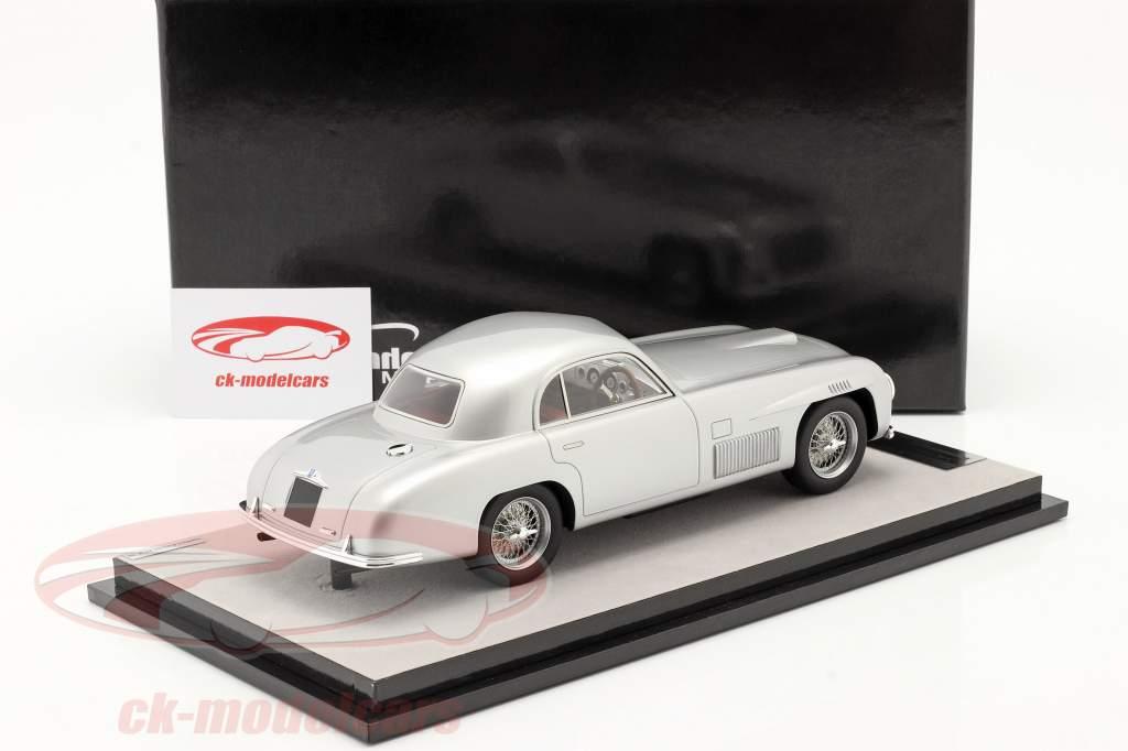 Ferrari 166S Coupe Allemano Straßenversion 1948 silber metallic 1:18 Tecnomodel
