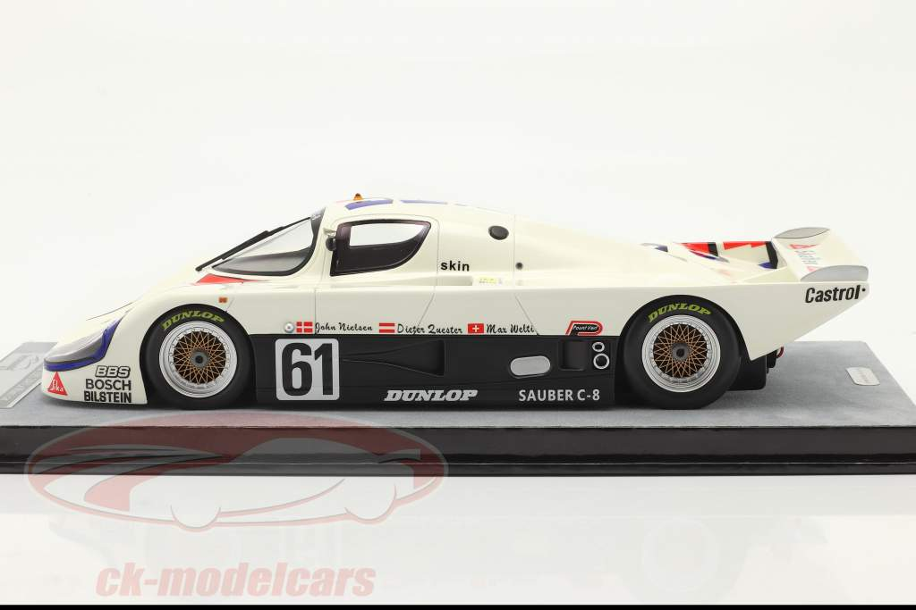 Sauber C8 #61 24h LeMans 1985 Quester, Nielsen, Welti 1:18 Tecnomodel