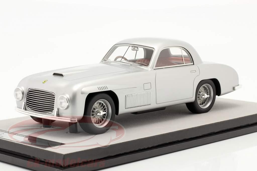 Ferrari 166S Coupe Allemano Straatversie 1948 zilver metalen 1:18 Tecnomodel