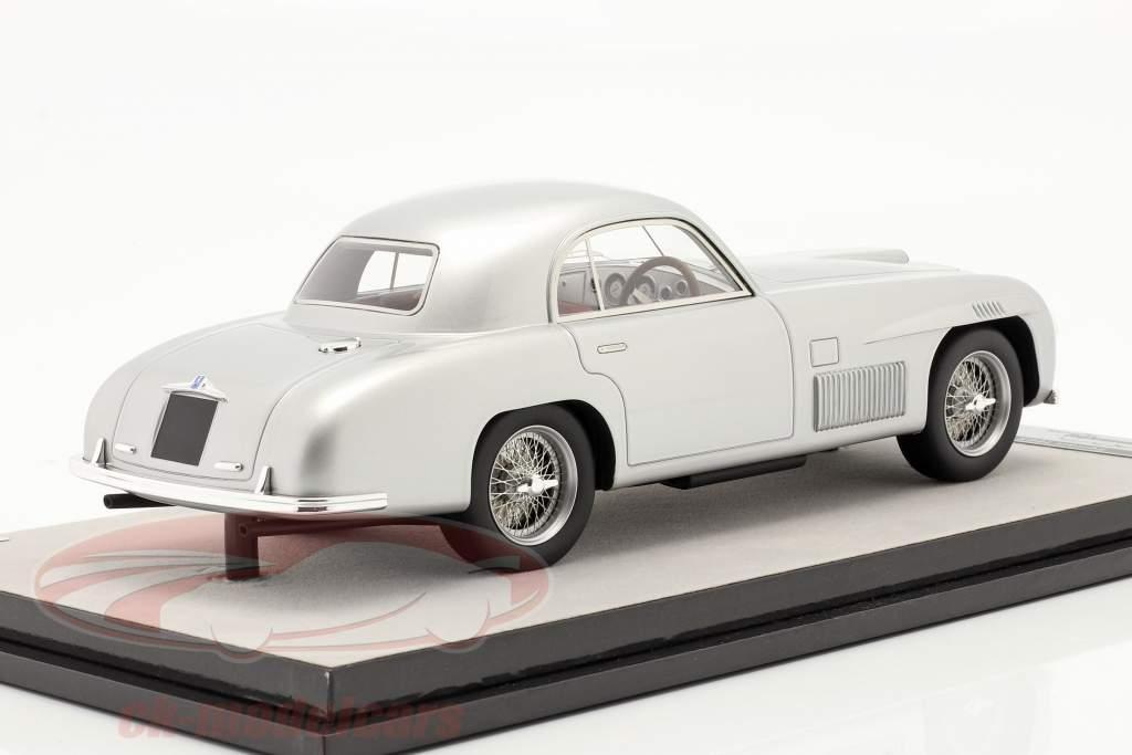Ferrari 166S Coupe Allemano Versão de rua 1948 prata metálico 1:18 Tecnomodel