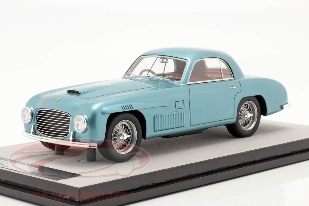 Ferrari 166S Coupe Allemano Versão de rua 1948 azul metálico 1:18 Tecnomodel