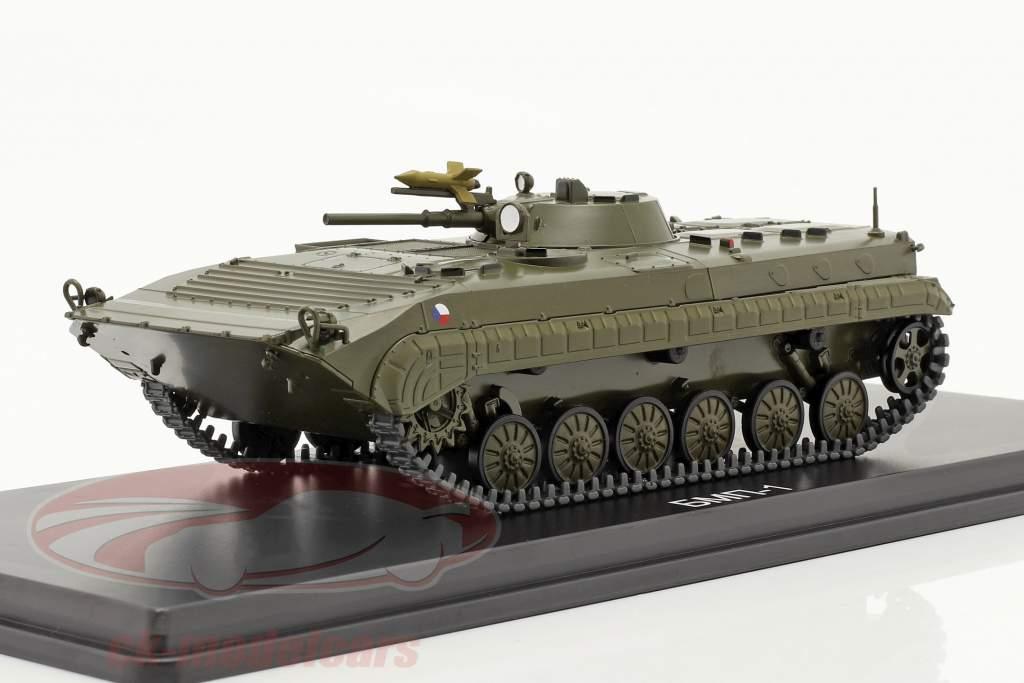 BMP-1 militar (CZ) Vehículos blindados de transporte de personal aceituna oscura 1:43 Start Scale Modelos