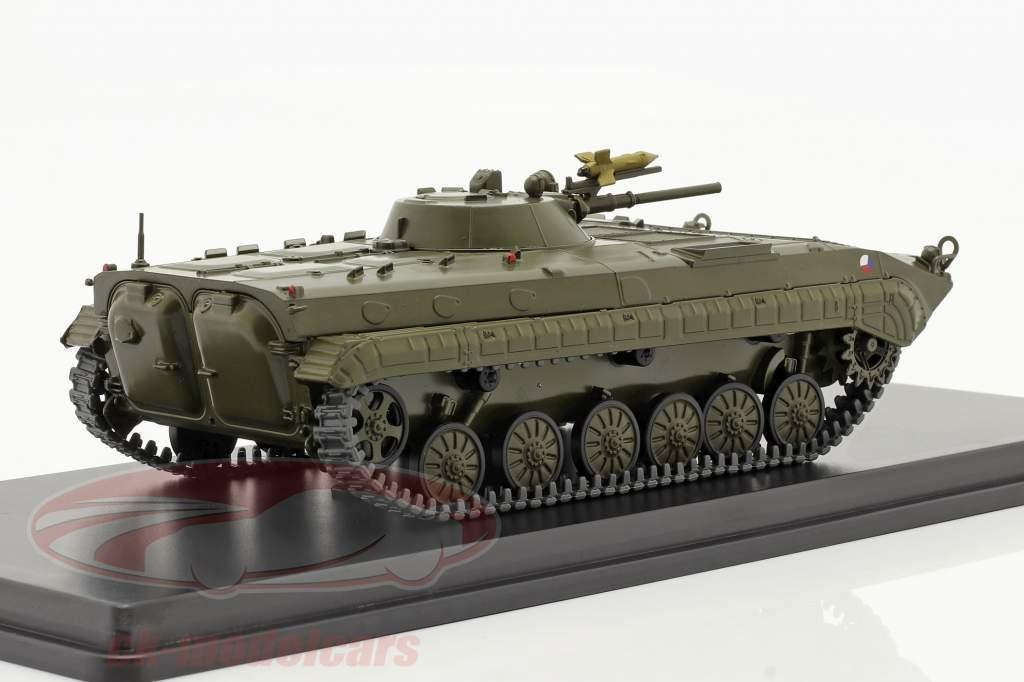 BMP-1 militaire (CZ) Véhicules blindés de transport de troupes olive foncé 1:43 Start Scale Des modèles