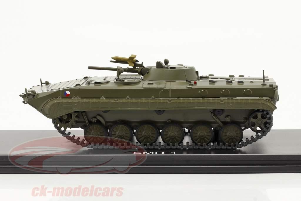 BMP-1 leger (CZ) Gepantserde personeelsdragers donkere olijf 1:43 Start Scale modellen