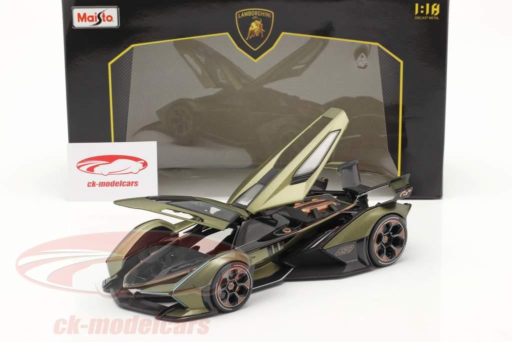 Lamborghini V12 Vision GT 2020 olivgrün / schwarz 1:18 Maisto