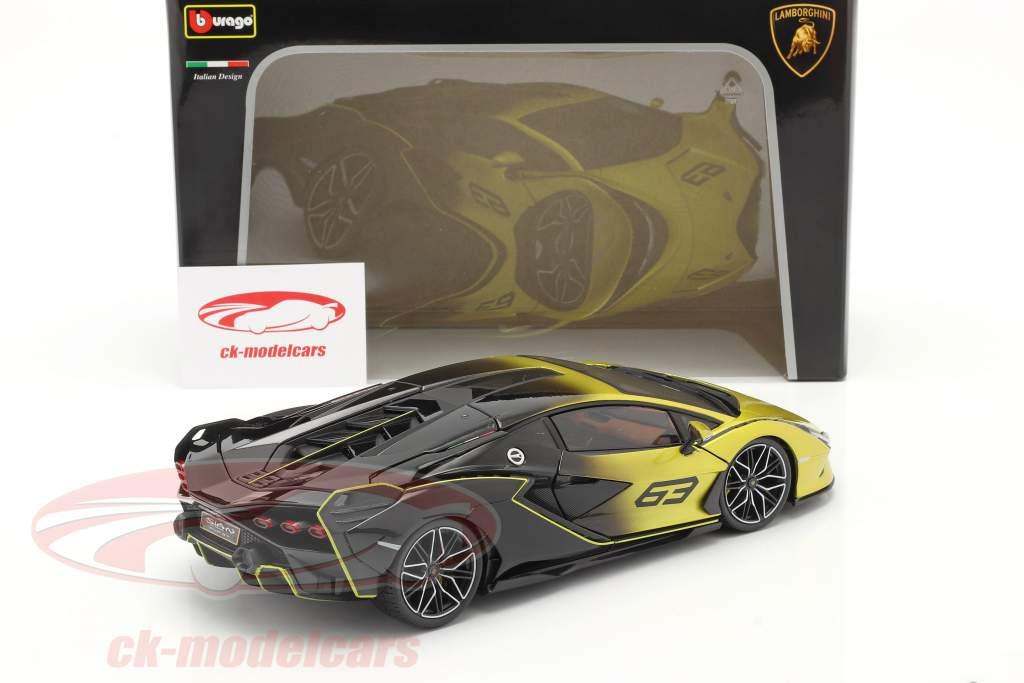 Lamborghini Sian FKP 37 #63 giallo / nero 1:18 Bburago