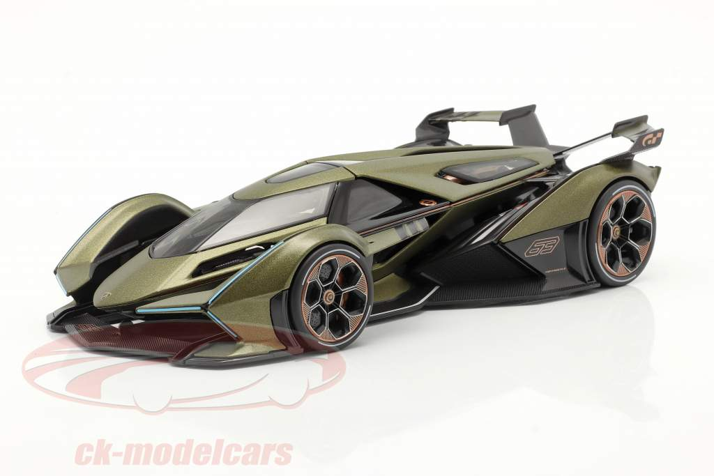 Lamborghini V12 Vision GT oliven grøn / sort 1:18 Maisto