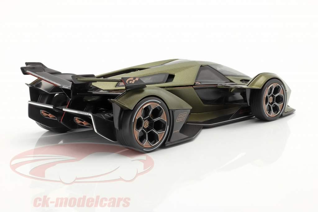Lamborghini V12 Vision GT Oliva verde / Preto 1:18 Maisto