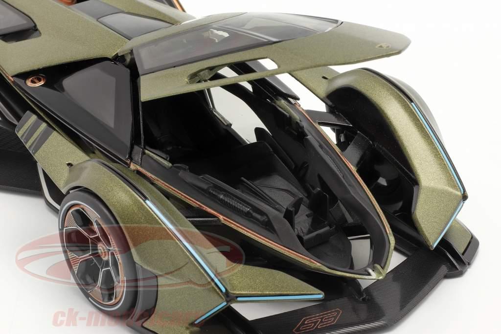 Lamborghini V12 Vision GT оливковый зеленый / чернить 1:18 Maisto