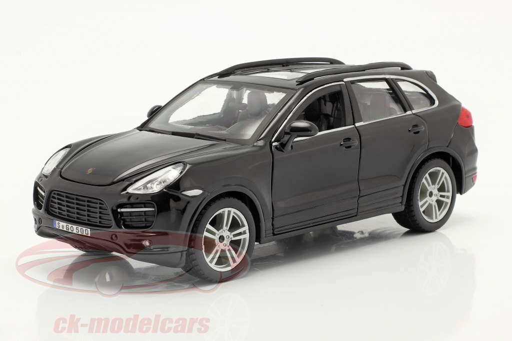 Porsche Cayenne Turbo zwart 1:24 Bburago