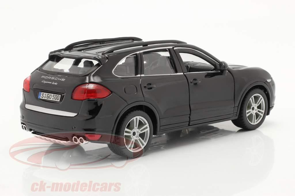 Porsche Cayenne Turbo schwarz 1:24 Bburago