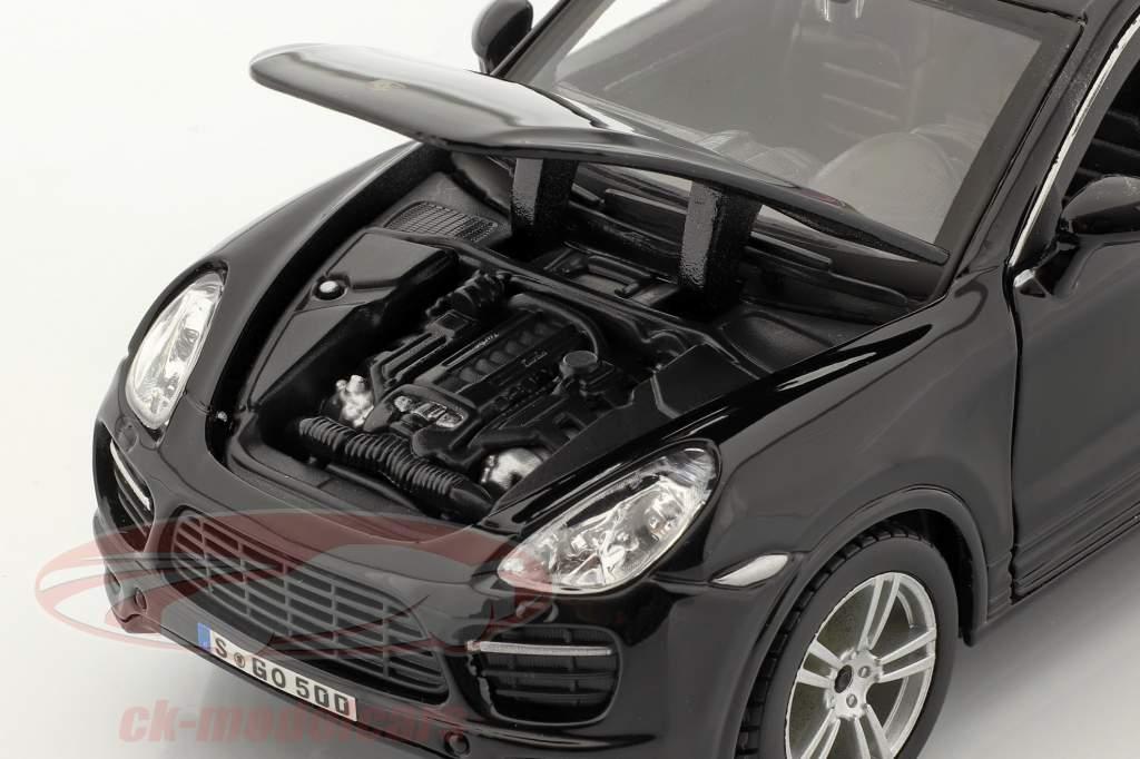 Porsche Cayenne Turbo negro 1:24 Bburago