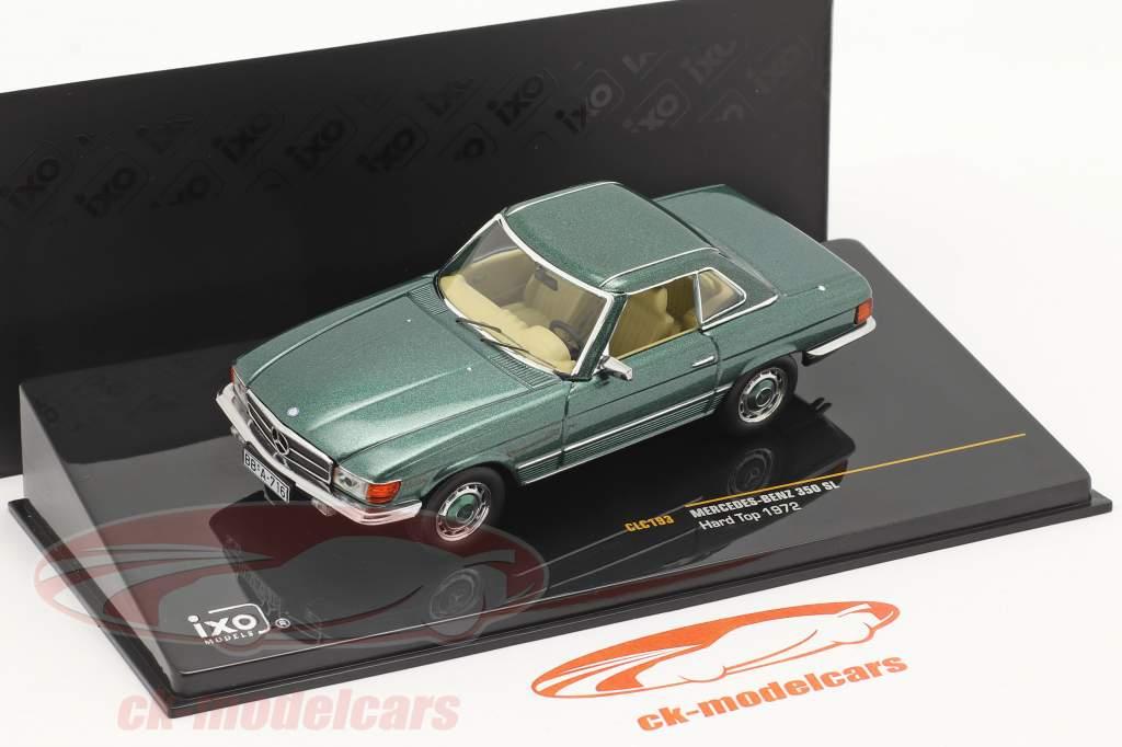 Mercedes-Benz 350 SL Hardtop Año de construcción 1972 verde metálico 1:43 Ixo