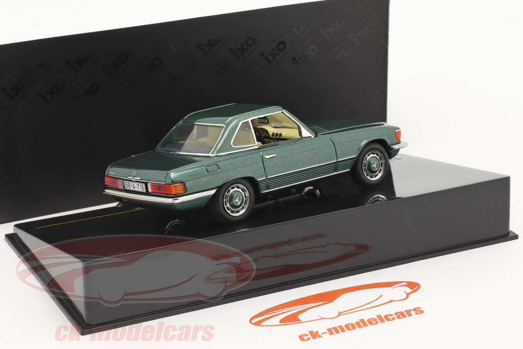 Mercedes-Benz 350 SL Hardtop Byggeår 1972 grøn metallisk 1:43 Ixo