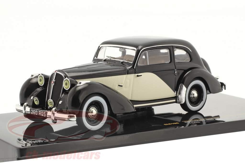Hotchkiss 686 GS Byggeår 1949 sort / elfenben 1:43 Ixo