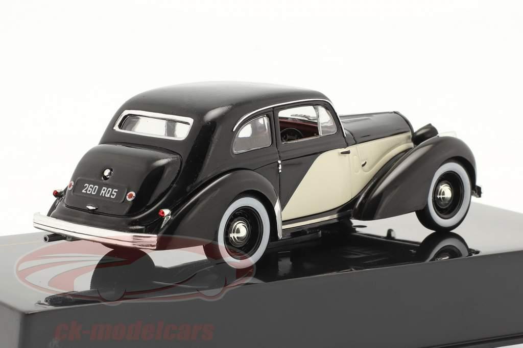 Hotchkiss 686 GS bouwjaar 1949 zwart / ivoor 1:43 Ixo