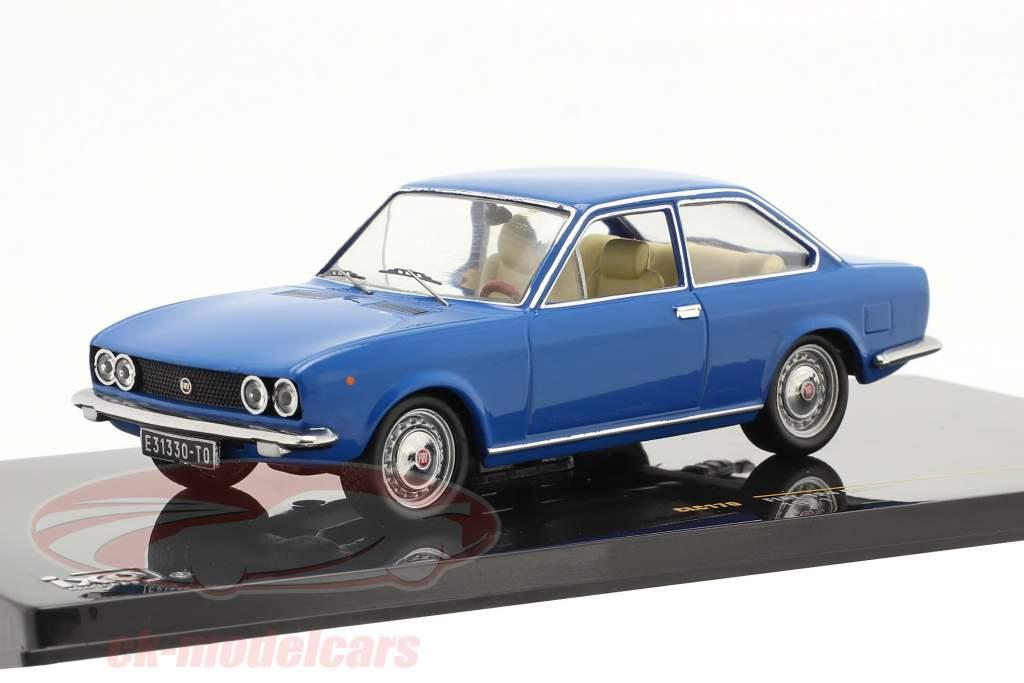 Fiat 124 Coupe Ano de construção 1971 azul 1:43 ixo