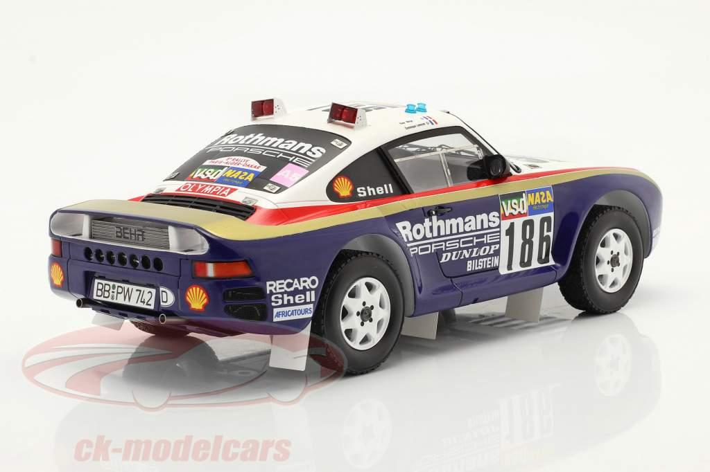 Porsche 959 #186 vincitore Rallye Paris - Dakar 1986 Con vetrina 1:18 Spark