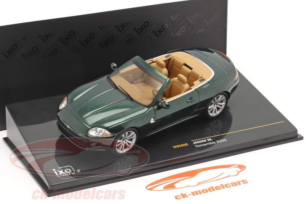 Jaguar XK Convertibile Anno di costruzione 2005 verde scuro metallico 1:43 Ixo