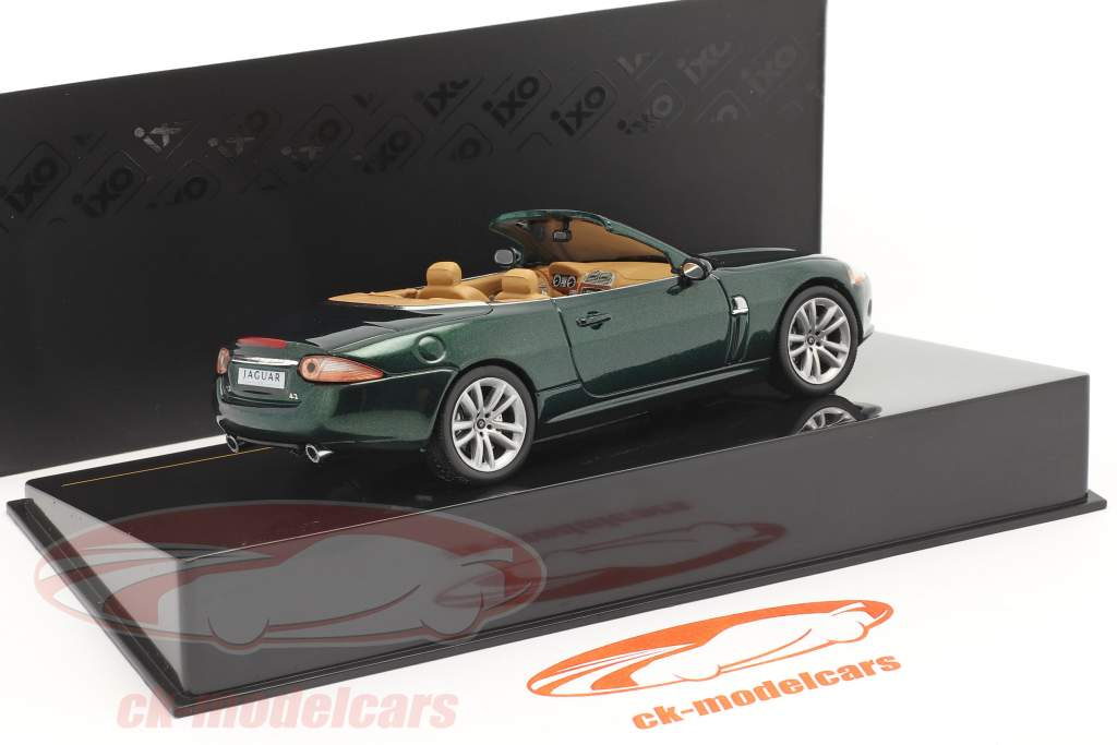 Jaguar XK Cabrio bouwjaar 2005 donkergroen metalen 1:43 Ixo
