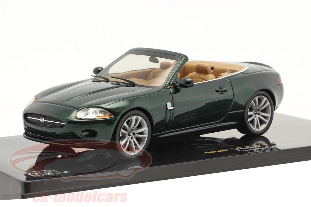 Jaguar XK Cabriolet Byggeår 2005 mørkegrøn metallisk 1:43 Ixo
