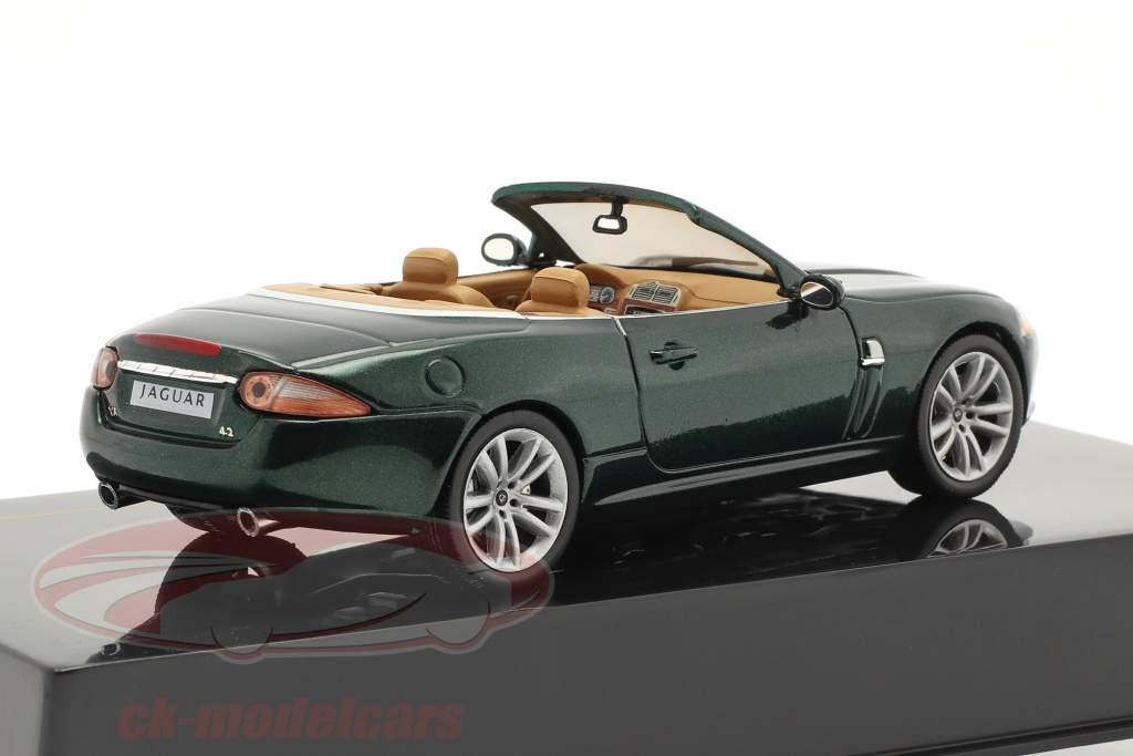 Jaguar XK Convertible Année de construction 2005 vert foncé métallique 1:43 Ixo