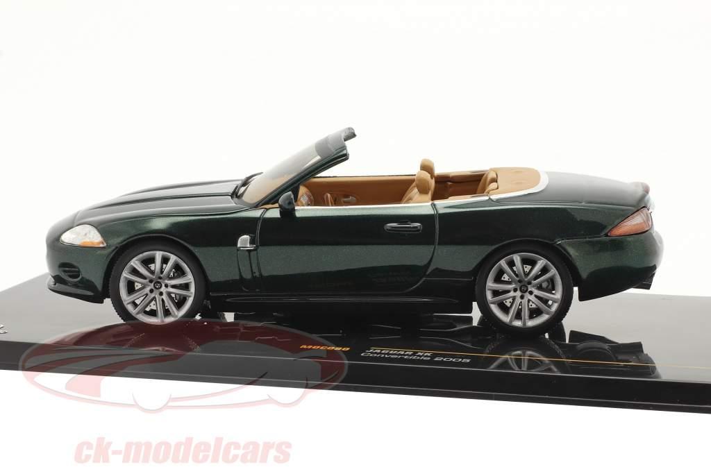 Jaguar XK Convertible Año de construcción 2005 verde oscuro metálico 1:43 Ixo