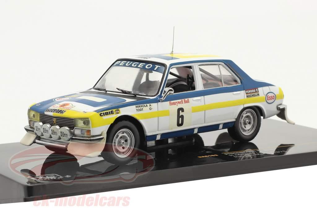 Peugeot 504 #6 vencedora Rally du Maroc 1975 Mikkola, Todt 1:43 Ixo
