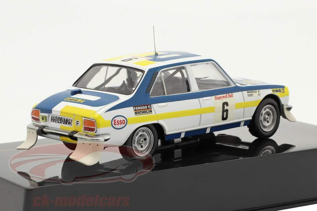 Peugeot 504 #6 winnaar Rally du Maroc 1975 Mikkola, Todt 1:43 Ixo