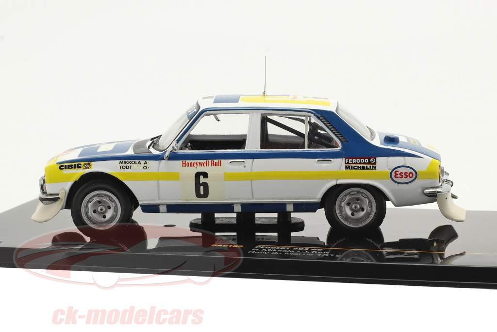 Peugeot 504 #6 vincitore Rally du Maroc 1975 Mikkola, Todt 1:43 Ixo