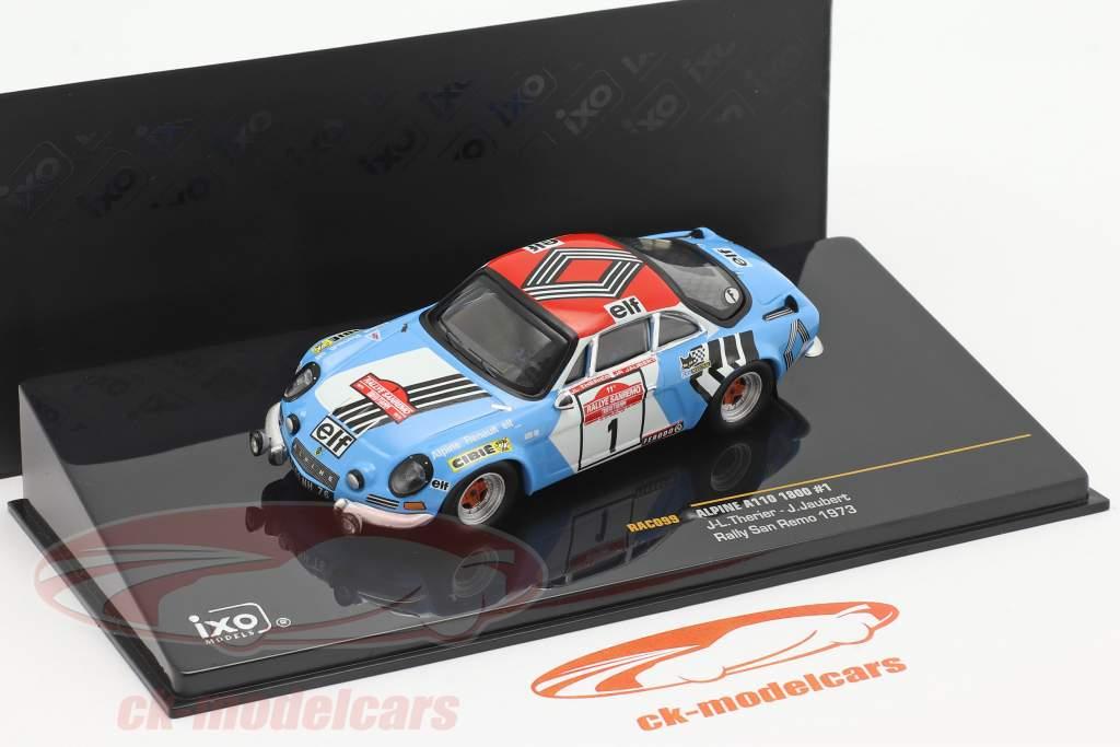 Alpine Renault A110 1800 #1 vinder Rallye SanRemo 1973 1:43 Ixo