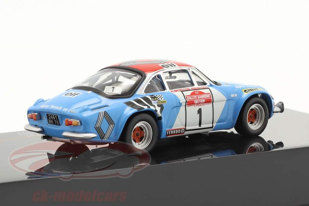 Alpine Renault A110 1800 #1 vencedora Rallye SanRemo 1973 1:43 Ixo
