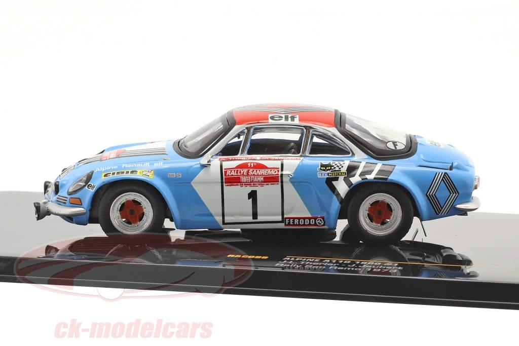 Alpine Renault A110 1800 #1 Winner Rallye SanRemo 1973 1:43 Ixo