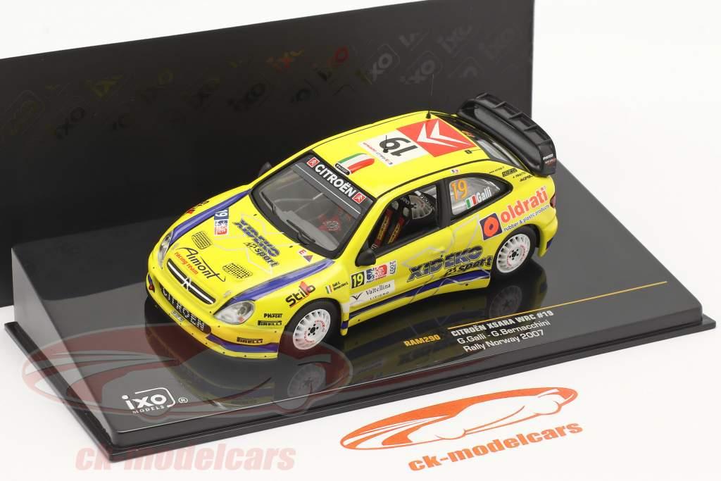 Citroen Xsara WRC #19 6e Rallye Noorwegen 2007 Galli, Bernacchini 1:43 Ixo