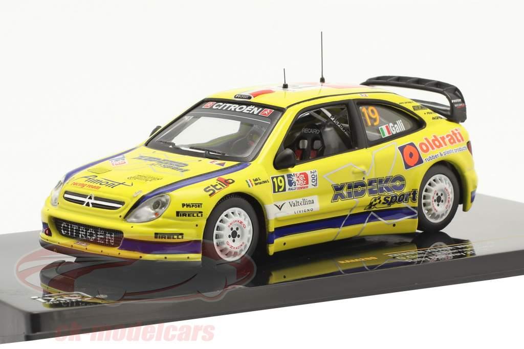 Citroen Xsara WRC #19 6° Rallye Norvegia 2007 Galli, Bernacchini 1:43 Ixo