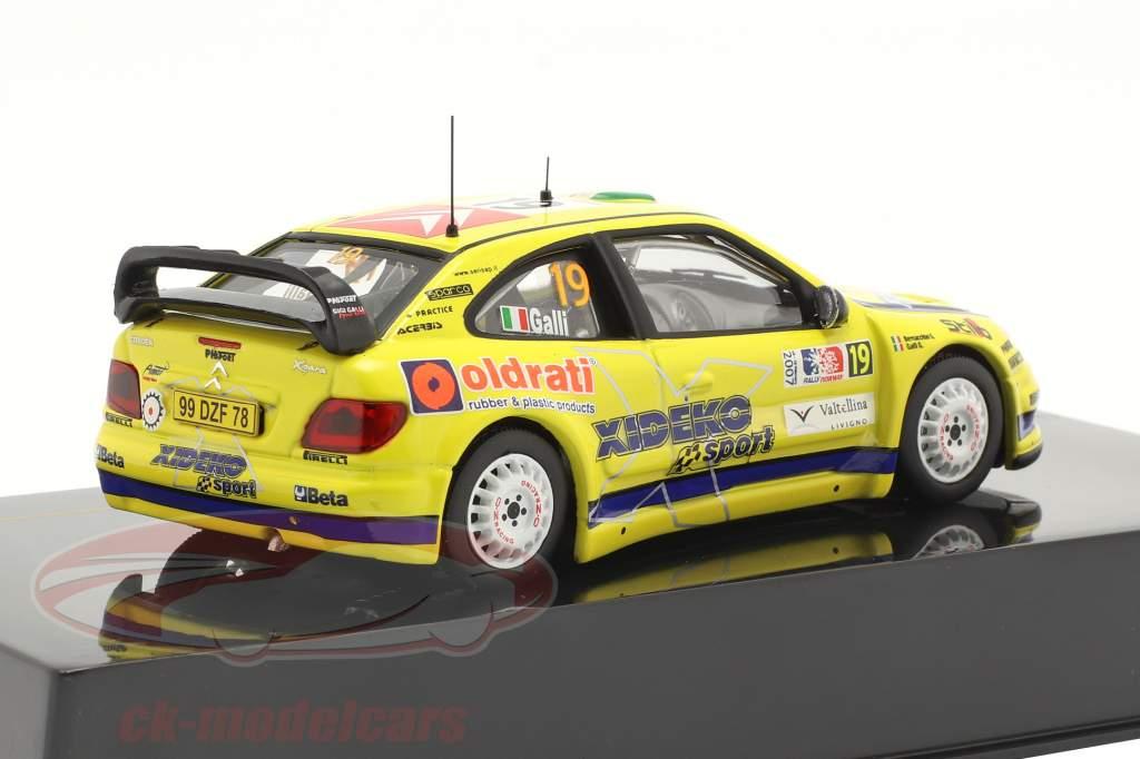 Citroen Xsara WRC #19 Sexto Rallye Noruega 2007 Galli, Bernacchini 1:43 Ixo