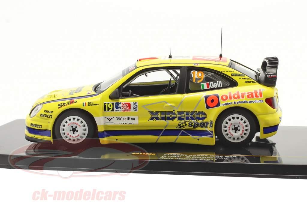 Citroen Xsara WRC #19 6th Rallye Norway 2007 Galli, Bernacchini 1:43 Ixo