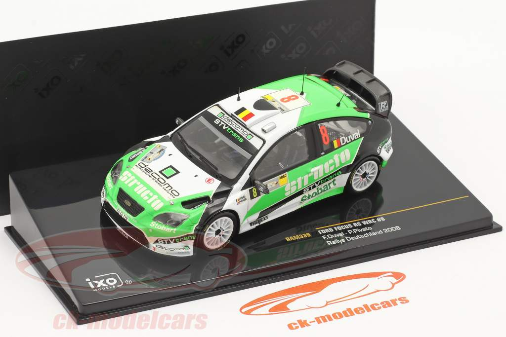 Ford Focus RS WRC #8 3e Rallye Duitsland 2008 Duval, Pivato 1:43 Ixo