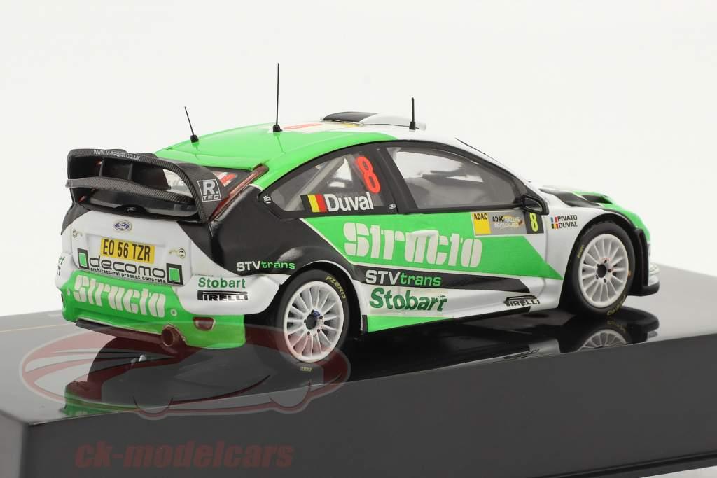 Ford Focus RS WRC #8 3e Rallye Allemagne 2008 Duval, Pivato 1:43 Ixo