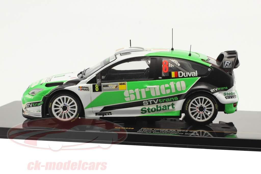 Ford Focus RS WRC #8 Tercero Rallye Alemania 2008 Duval, Pivato 1:43 Ixo