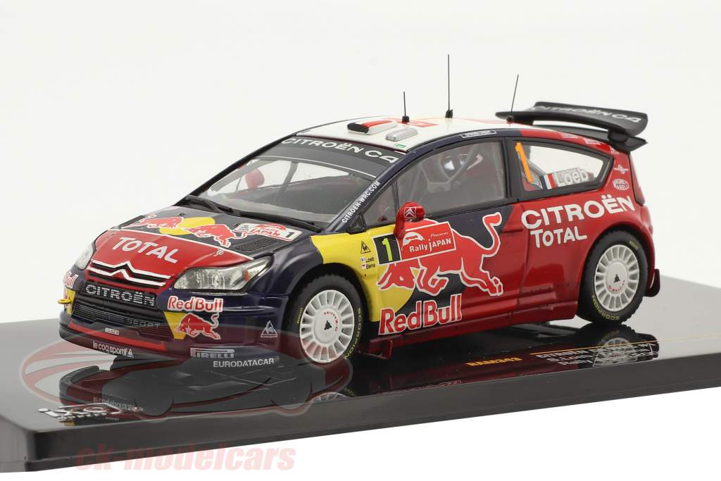 Citroen C4 WRC #1 3e Rallye Japon 2008 Loeb, Elena 1:43 Ixo