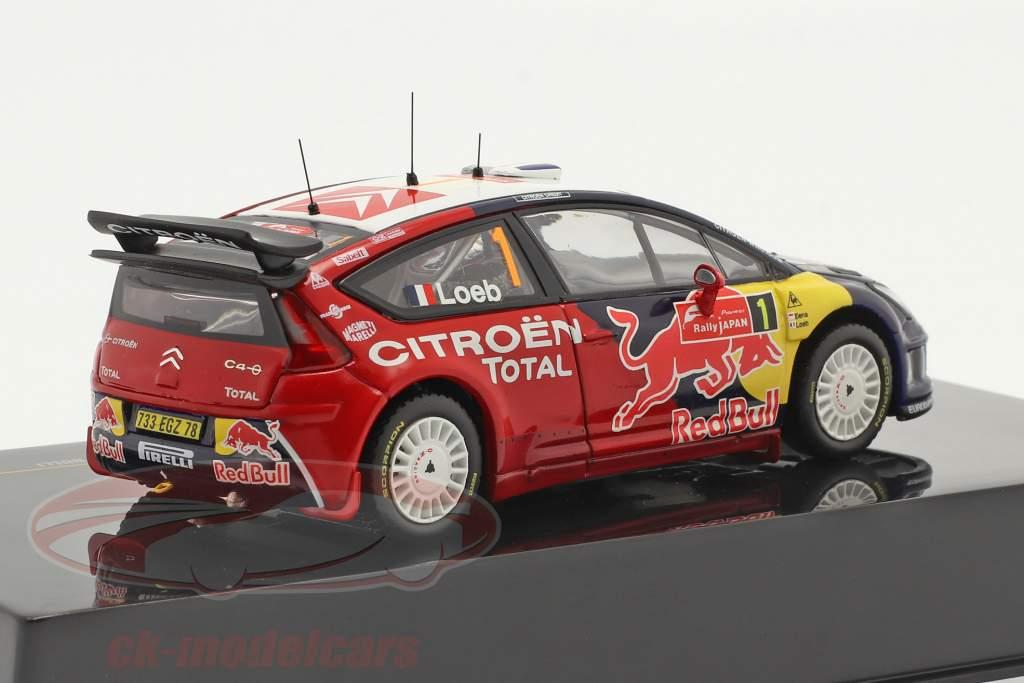 Citroen C4 WRC #1 3ª Rallye Japão 2008 Loeb, Elena 1:43 Ixo