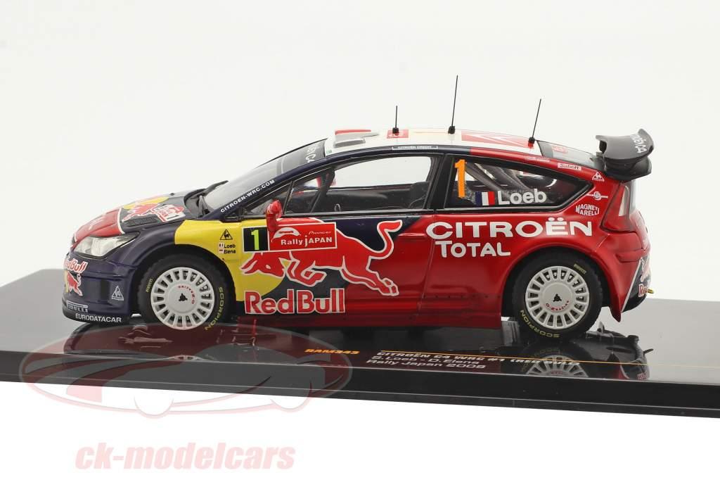 Citroen C4 WRC #1 3e Rallye Japan 2008 Loeb, Elena 1:43 Ixo