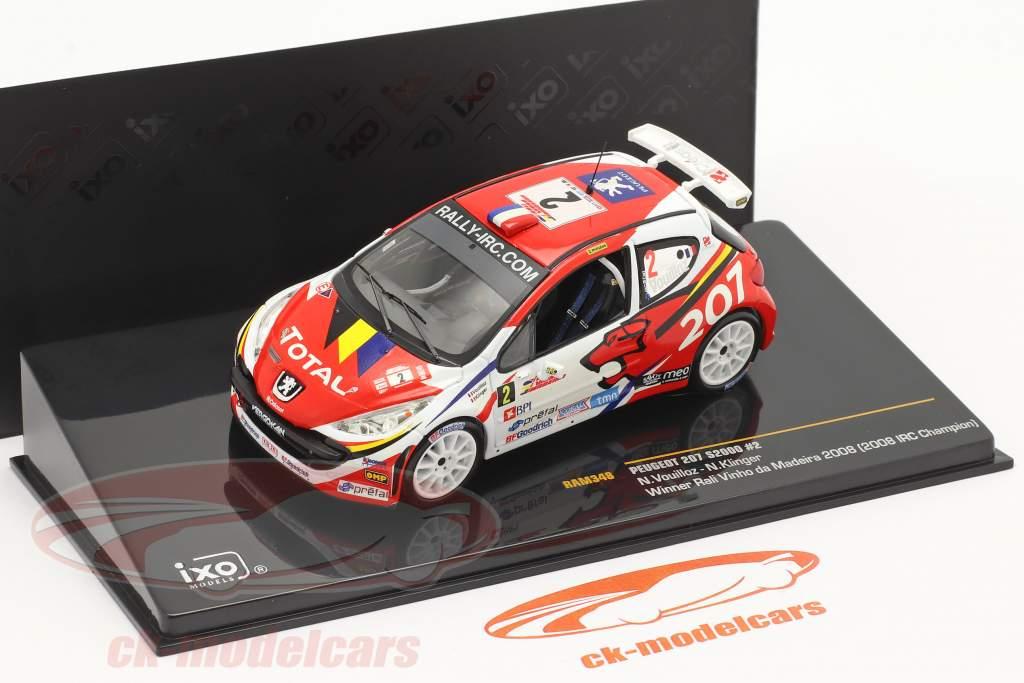 Peugeot 207 S2000 #2 vincitore rally Vinho da Madeira 2008 1:43 Ixo