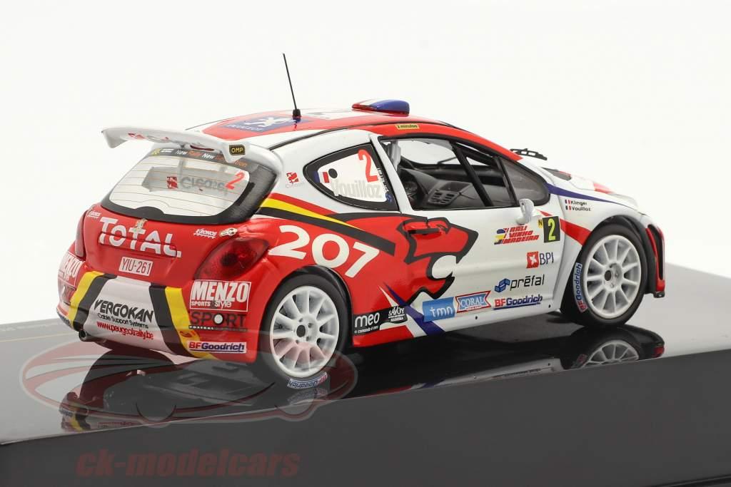 Peugeot 207 S2000 #2 gagnant se rallier Vinho da Madeira 2008 1:43 Ixo