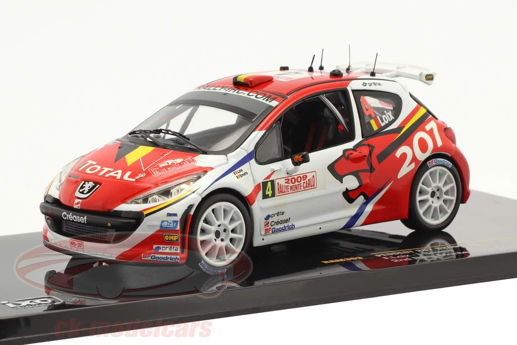 Peugeot 207 S2000 #4 2° Rallye Monte Carlo 2009 Loix, Smets 1:43 Ixo