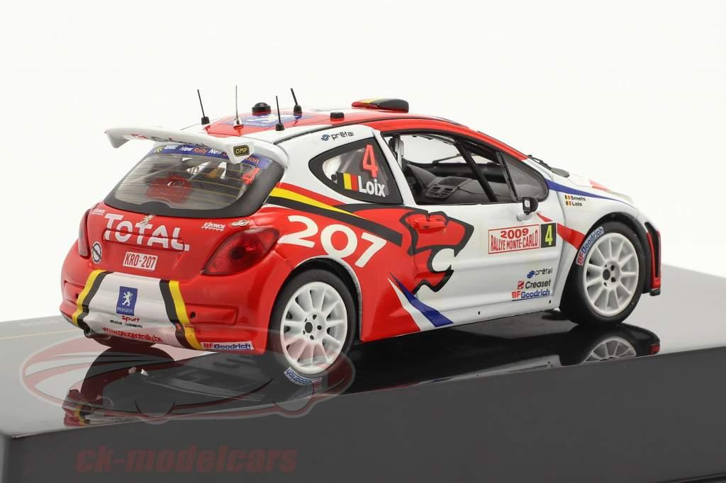 Peugeot 207 S2000 #4 2. plads Rallye Monte Carlo 2009 Loix, Smets 1:43 Ixo